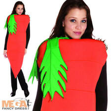 Giant Carrot Adults Fancy Dress Rabbit Food Vegetable Mens Ladies Costume Outfit