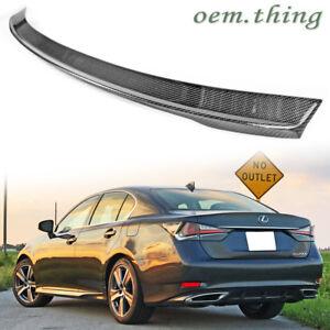 13-20 GS Fit FOR Lexus GS350 GS450h GS Sedan Rear Trunk Spoiler OE Style Carbon