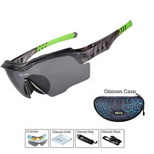ROCKBROS Polarized Cycling Glasses Outdoor Anti-sweat UV400 Sunglasses Black