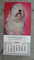 Vintage Murphy Salesman Sample 1967 Wall Calendar Litho Print Sheep Dog