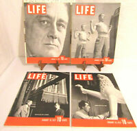 VINTAGE ORIGINAL 1937 LIFE MAGAZINE COMPLETE MONTHS JANUARY FEBRUARY MARCH APRIL