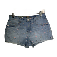 Wild Fable Womens Jean Shorts High Rise Stretch Denim Casual Bottoms Blue Size 6