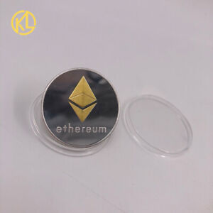 Gold and Silver Two-color Ethereum ETH Physical Crypto Coin