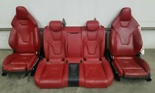 2007-2016 Audi S5 A5 Red Interior Driver Passenger & Rear Red Seats Set OEM