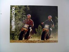 1985 YAMAHA Big Wheel 200 Sales literature/ Sales brochure (NOS--not a reprint)