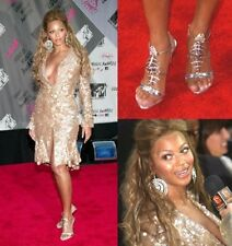 GIUSEPPE ZANOTTI Gold Leather Fish Bone Heels as seen on Beyonce 37.5