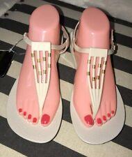 Ipanema Premium Sanray Womens Flip Flops Thong Sandals Beige Gold Sz 10 NWT