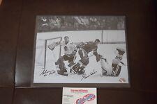 Gordie Howe Glenn Hall Signed 8x10 Photo Detroit Red Wings Chicago Blackhawks