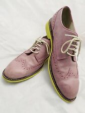COLE HAAN Nike Air pink leather oxfords brogues wingtips dress shoes 11.5