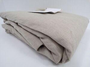 Pottery Barn Classic Belgian Drape Panel Cotton Lining Dark Flax 50x 96 9100U
