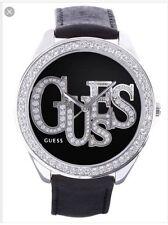 Guess Black Leather Band Watch U85077l2