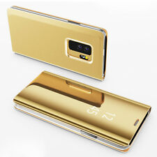Gold For Samsung Galaxy S9 Plus Case Smart Flip Leather Stand Clear View Cover