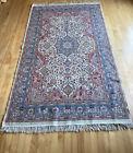 4'X7' Genuine Semi Antique Mideastern SILK wool Rug Ivory Field Oriental Carpet