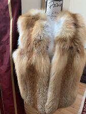 Fur Vest Real Fox , Full Skin Panels Size L $375( Orig 1600)