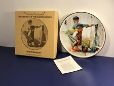 Knowles Collectors Plate Norman Rockwell 1976 Crown Bavaria Whitewash Tom Sawyer