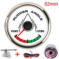 52mm Boat Rudder Angle Gauge Waterproof Rudder Angle Indicator 7 Color Backlight