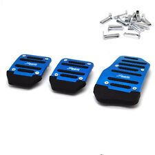 3X Blue Brake Clutch Accelerator Car Pedal Cover Non Slip Manual Transmission
