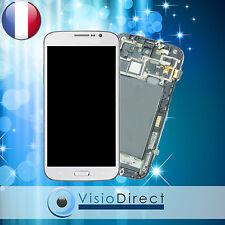Ecran vitre complet sur chassis pour Samsung Galaxy Mega 6.3 i9200 i9205 blanc
