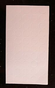 50 x Double Sided Sticky White 3D Foam Dots/Pads/Spots Card Craft 1mm Thick