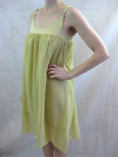 Kristensen Du Nord Size 2 or 10 Sage Yellow Silk Blend Shift Dress