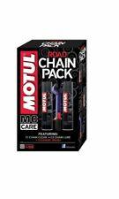 Motul Motorbike Racing Road Bike Chain Lube Cleaner Brush 3 Motorcycle Care Pack