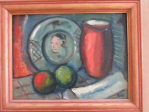 """Vintage Oil """"Still Life"""" Vilis Ciesnieks Latvian/Wisconsin artist"""