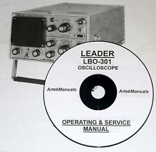 Leader Lbo-301 Oscilloscope Operating & Service Manual