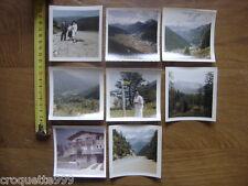 Lot ALPES SUISSE ITALIE MONTAGNE MONT BLANC 8 anciennes photographies 1965