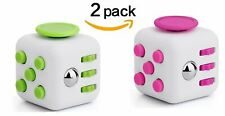 2xFidget Hand Cube 6 Sided Dice Toy Pink/Green