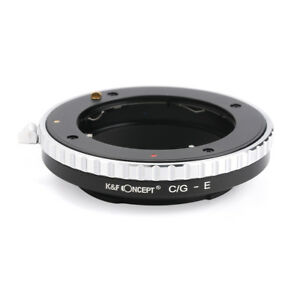 K&F Concept Lens Mount Adapter Contax G Lens to  Sony NEX a72 A7R2 a7s2 Camera