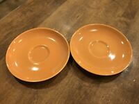 Set of 2 - Vintage Iroquois Russel Wright CASUAL CANTALOUPE Saucers 6302040
