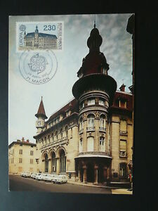 modern architecture post office Europa Cept maximum card 1990