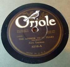 Zora Layman / Frank Luther Trio - Oriole 8216
