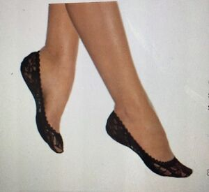 Dream Soles Low Cut Lace Foot Covers Nude And Black 1 Pack. 3 Pair