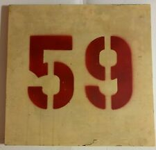 Original Old Boston Garden Section #59 Sign Boston Bruins & Celtics