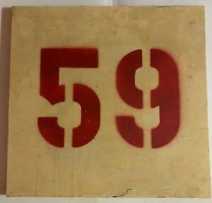 Original Old Boston Garden Section #59 Sign Boston Bruins & Celtics