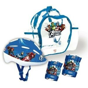 NEUF. SET PROTECTIONS CASQUE + COUDIERES + GENOUILLERES + SAC A DOS AVENGERS
