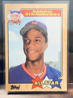 1987 Topps Darryl Strawberry ALL STAR Card #601