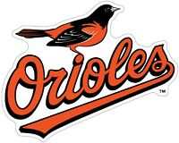 Baltimore Orioles MLB Color Die Cut Vinyl Decal Sticker - You Choose Size