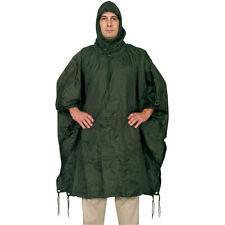 FOX MILITARY Style RAIN PONCHO - Ripstop - OLIVE DRAB OD GREEN