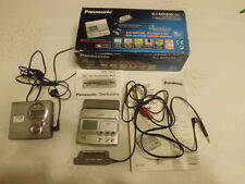 Panasonic SJ-MR200 & Sony MZ-R410 Portable MD Recorder / Player (Silver)