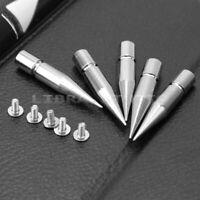 5 Pcs Silver Tone Screwback Metal Spike Stud Rivet DIY Leathercraft Shoes Bag