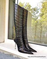 GIANMARCO LORENZI Black Leather Boots gr. EUR 38