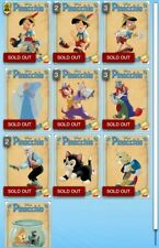 Topps Disney Collect! Pinocchio 80th Anniversary Variant Character Set + Award