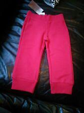 BNWT Benetton funky red jogging trousers sweatpants 1-2