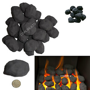 10 replacement mixed cast coals for gas fires imitation coal ceramic live flame