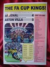 Arsenal 4 Aston Villa 0 - 2015 FA Cup final - souvenir print