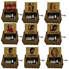 Carillon in legno  manovella movimento a mano meccanismo raro collezione music