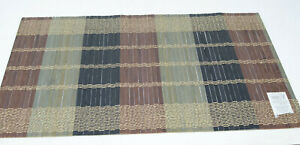 Set of 4, Bamboo Multicolor Woven Striped Placemats