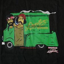 New Primitive Cheech & Chong Weed Van Up In Smoke Ice Cream Hemp Shirt Size M